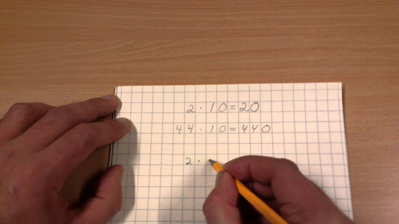 Å gange (multiplisere) med 10 og 100 Mosserød skole