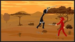 Ninja vs Ninja. Wer kann überleben? lustiges video. zeichnen, Comic-2. cm Alif.