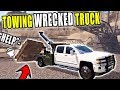 TOWING OUT WRECKED DUMP TRUCK IN QUARRY   FARMING SIMULATOR 2017