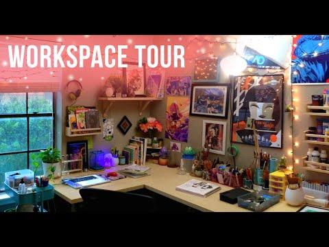 Art Studio Workspace Tour // Jacquelin de Leon
