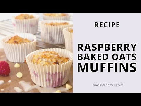 Easy RASPBERRY BAKED OATS MUFFINS Bake at Home