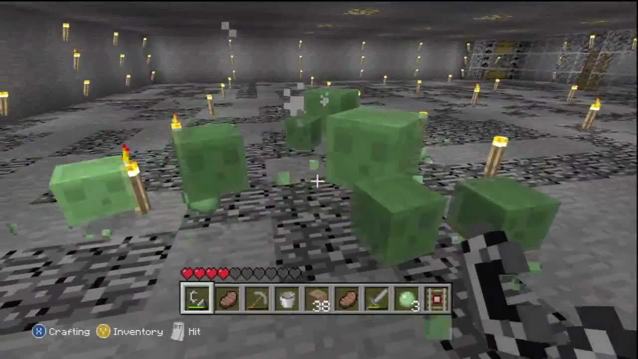 Minecraft x360 simple slime farm youtube ccuart Image collections