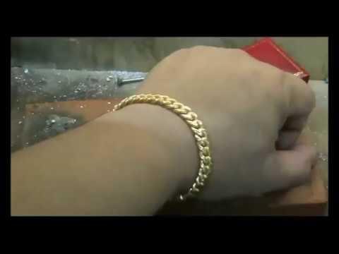 YARING PLATERO Video 85 - 45 Grams 9Karats Gold Cuban Link bracelet making