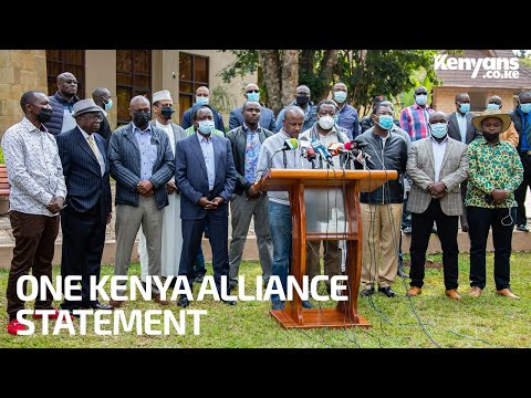 One Kenya Alliance Hold a Press Briefing To Denounce NASA.