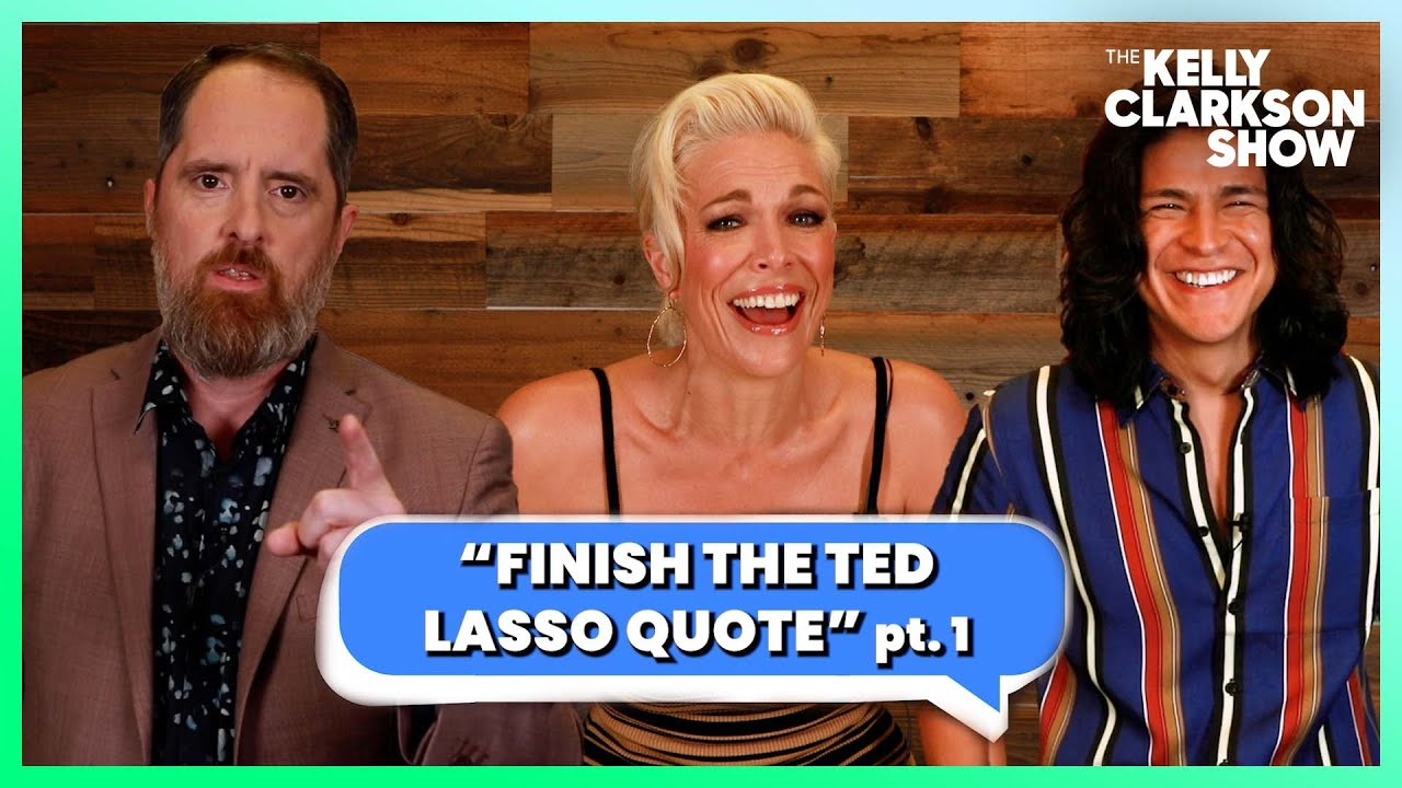 'Ted Lasso' Stars Play 'Finish The Ted Lasso Quote'