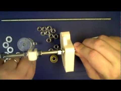 RepRap Prusa 3Dプリンターキット 組み立て Part2 フロントスレッドロッド