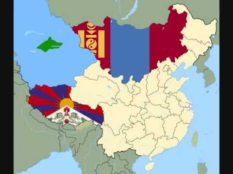 China in future- map of China 2020 - FREE TIBET AND UYGHUR,  INNER MONGOLIA!!!