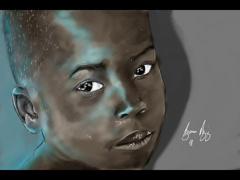 Cares of Mozambique Speed Painting by Azam Aziz