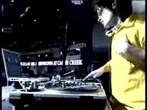 DJ Solomon djing at a warriors vs miami heat game