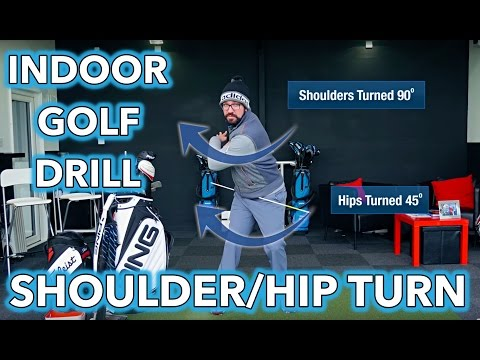 Indoor Golf Tip - Shoulder and Hip Rotation Drill
