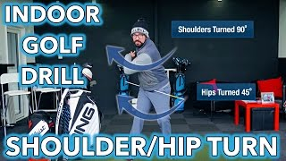 Indoor Golf Tip - Shoulder and Hip Rotation Drill