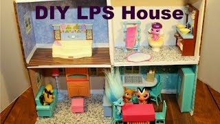 How To Make A Littlest Pet Shop Doll House | Diy | Htm | Easy Step By Step Tutorial