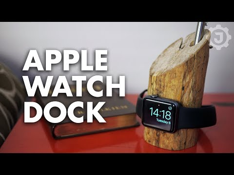Rustic DIY Apple Watch Dock/Stand