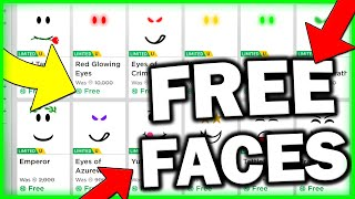 ROBLOX FREE FACES| HOW TO GET FREE FACE ON ROBLOX! (2019)