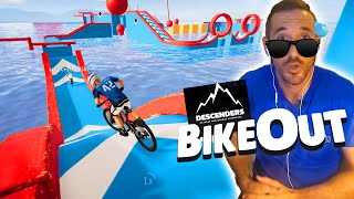 LA COURSE D'OBSTACLE IMPOSSIBLE | BikeOut sur Descenders (jeu de VTT) | (Aliexpress Haul)