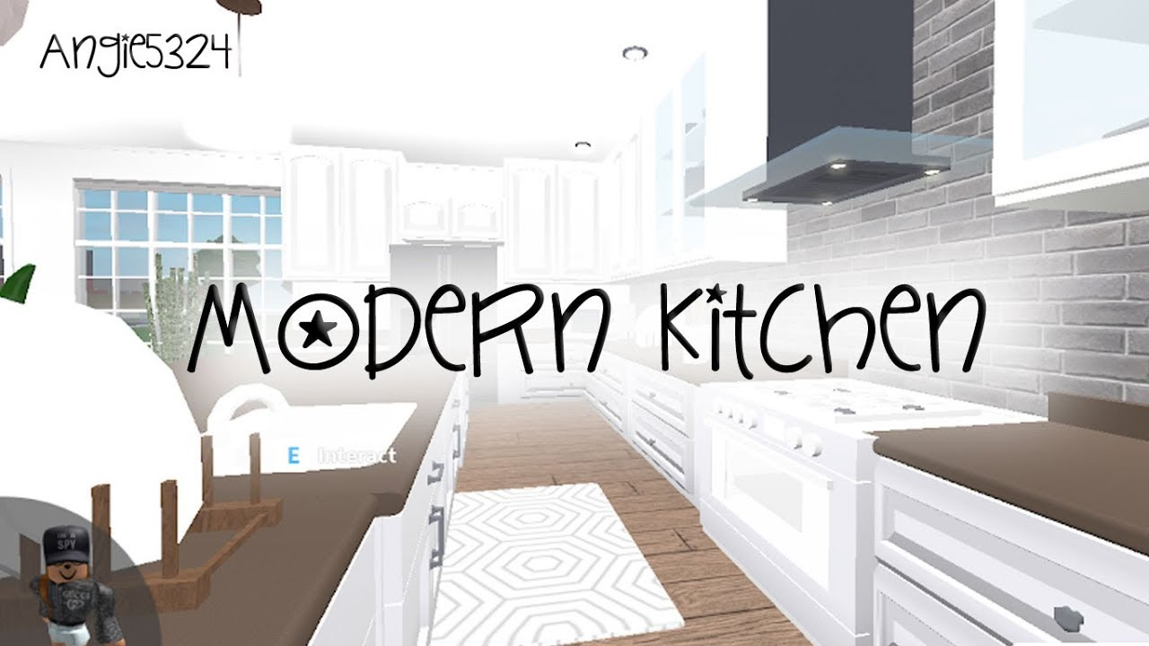 Welcome To Bloxburg Kitchen And Living Room YouTube