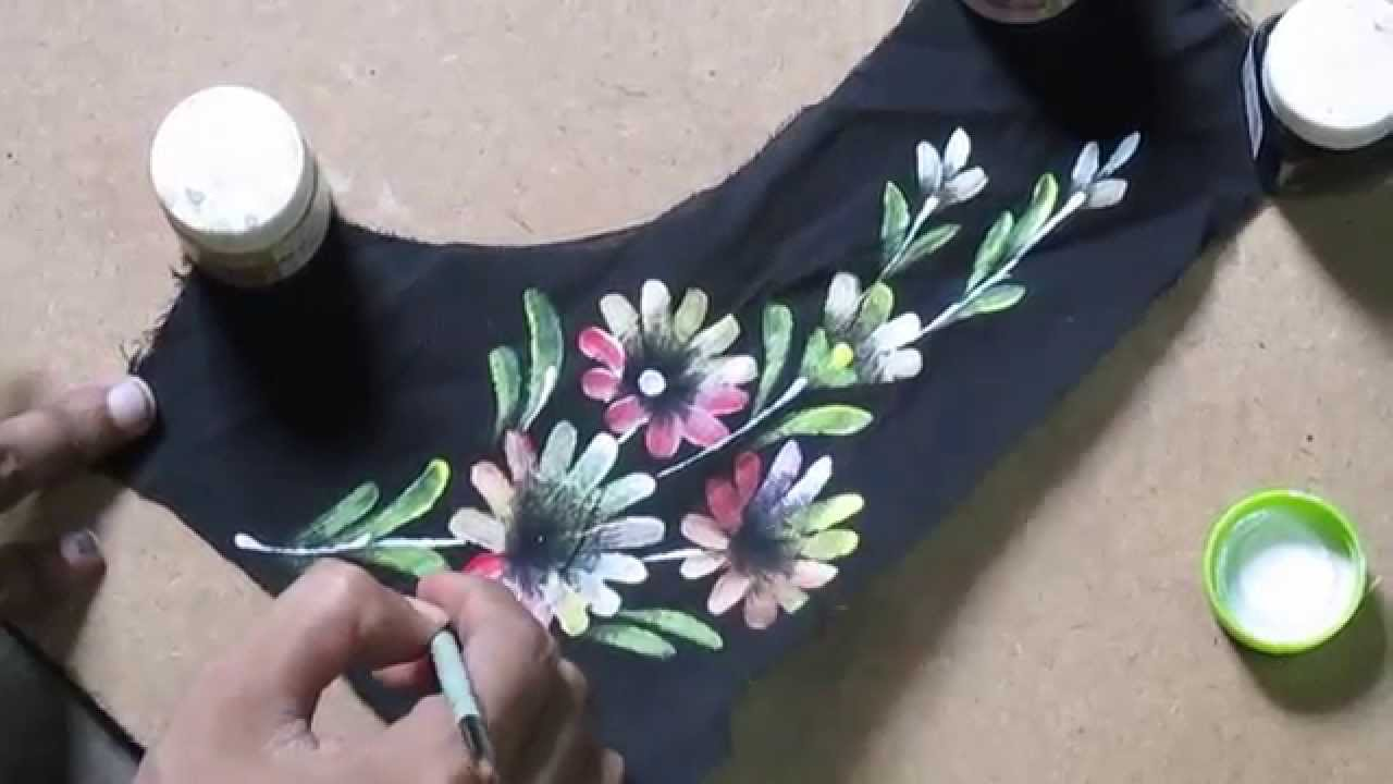 Learn Online Fabric Painting Courses Part 6 Of 8 By