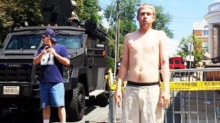 White Supremacist Strips In Terror (VIDEO)