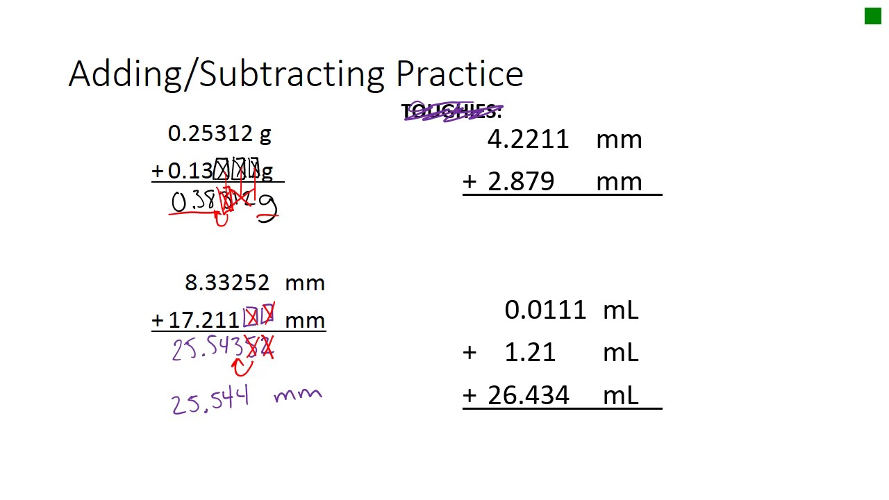 how to add with significant figures