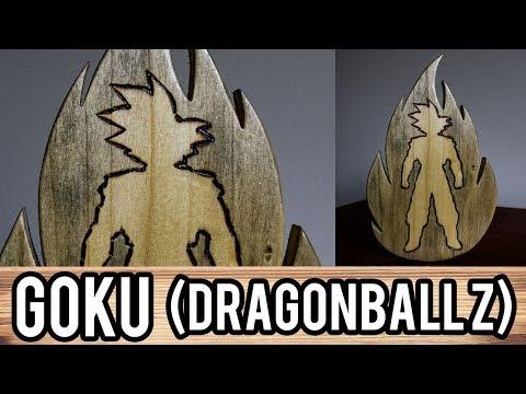 Goku (DragonballZ) - wooden art piece - FANTASY WOODWORK