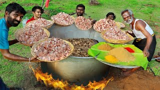 100 KG !!! CHICKEN Pirattal Prepared by My Daddy Arumugam / Village food factory