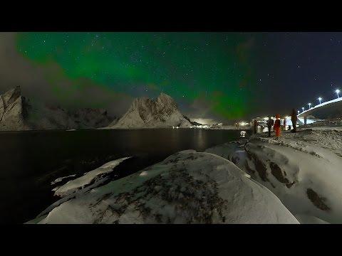 Cazando Auroras Boreales en VR – Lofoten Island Norway 360º