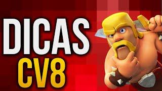 🔴 DICAS CV8 CLASH OF CLANS - Como INICIAR um CV8 Centro de Vila 8 ( Português PT BR Clash of Bemo )
