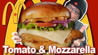 McDonald's ? Tomato & Mozzarella with Crispy Chicken Food Review (WITH BONUS: Speed up segment)