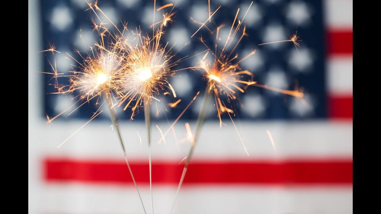 July 4th fireworks safety tips; safest way for kids use sparklers