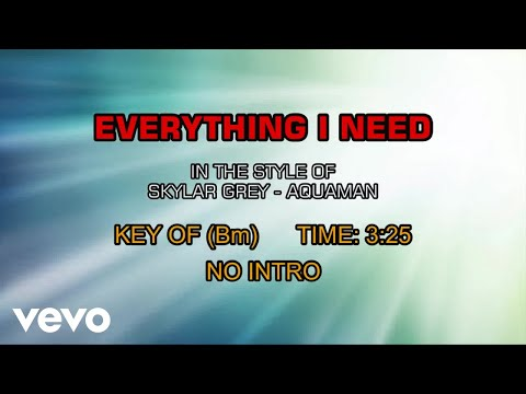From The Movie Aquaman - Everything I Need (Karaoke)