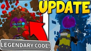 UNLOCKING *LEGENDARY* NEW UPDATE CODES AND AREAS IN ROBLOX DESTRUCTION SIMULATOR!