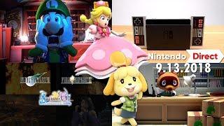 Nintendo Direct 9.13.2018 FULL LIVE REACTION!!!