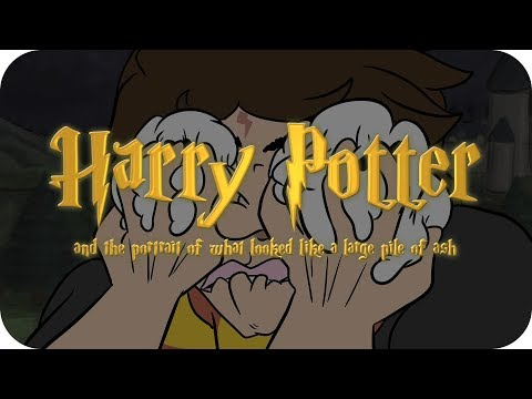 Animated Harry Potter and the Portrait of what Looked Like a Large Pile of Ash