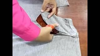 Daur ulang kaos bekas menjadi tas unik
