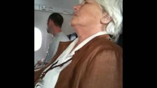 Snoring lady on the plane