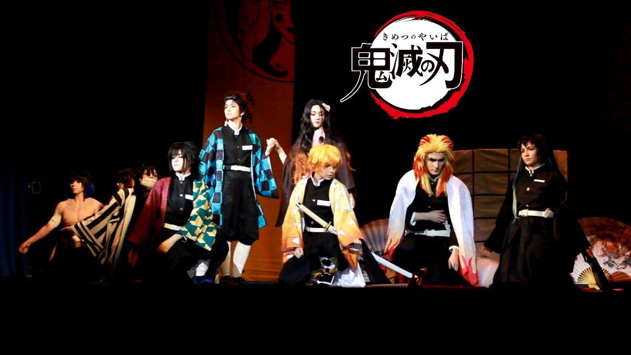 Kimetsu No Yaiba Demon Slayer Cosplay Stage Performance At