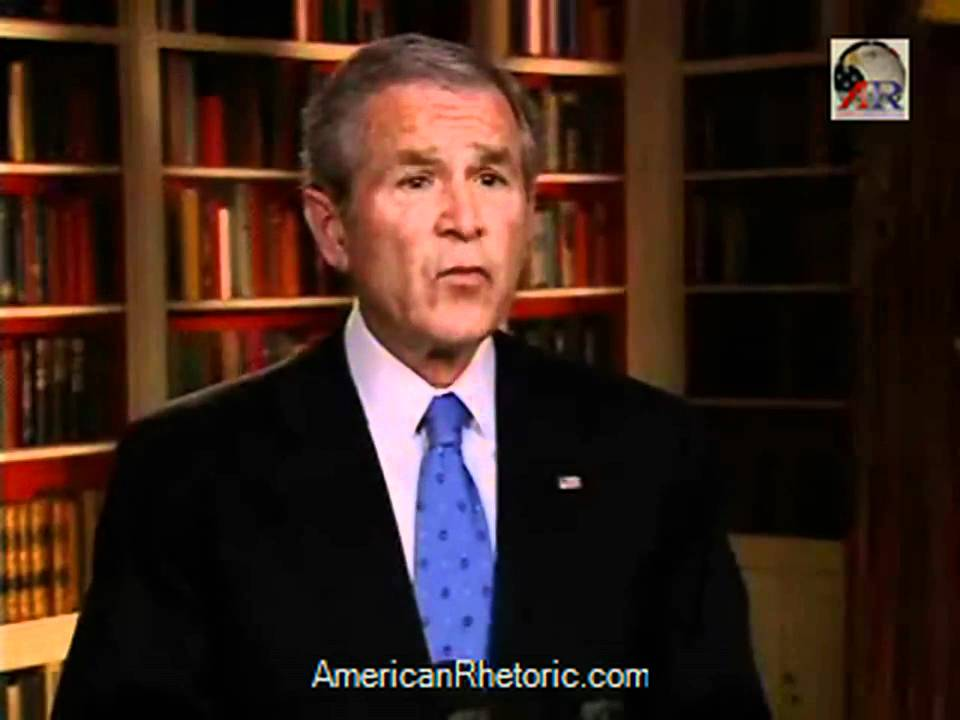 Is This What Bush Meant By Surge In >> President George W Bush Troop Surge Plan Announcement Youtube