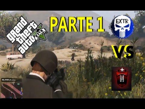 GTA V  PS4  GUERRA DE SESSAO  NATO VS EXTR PARTE 1