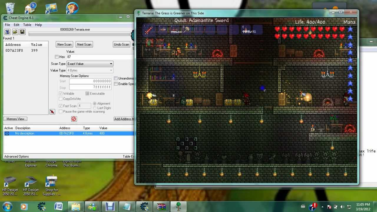 Terraria life hack with cheat engine 6 1 youtube