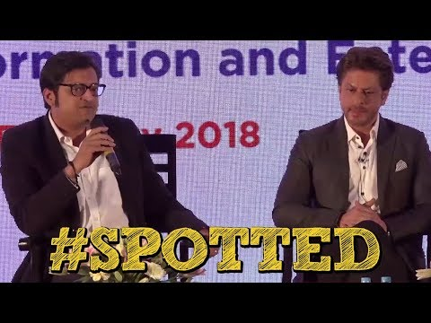 #Spotted - Shahrukh Khan & Arnab Goswami At Magnetic Maharashtra Media Session 2018