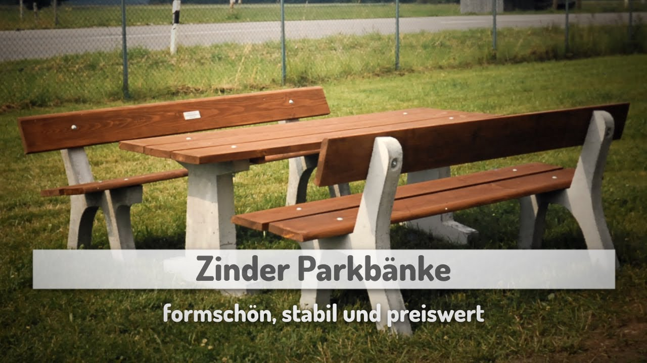 parkbank parkb nke aus holz gartenb nke zinder parkb nke youtube. Black Bedroom Furniture Sets. Home Design Ideas