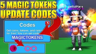 5 MYTHICAL MAGIC UPDATE CODES IN ROBLOX MINING SIMULATOR! *INFINITE TOKENS*