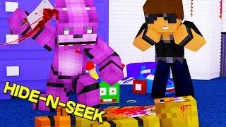 Minecraft FNAF Hide and Seek | BONNIE KILLS CHICKA ?!