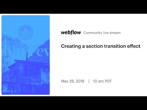 Creating a section transition effect