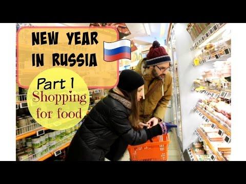 Russian Conversations 6. New year. Pt 1. Shopping for food. Новый год, поход в магазин