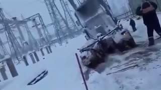 видео Погрузка, транспортировка и выгрузка трансформаторов