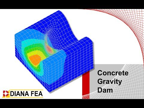 Modeling and analysis of a concrete gravity dam with DIANA