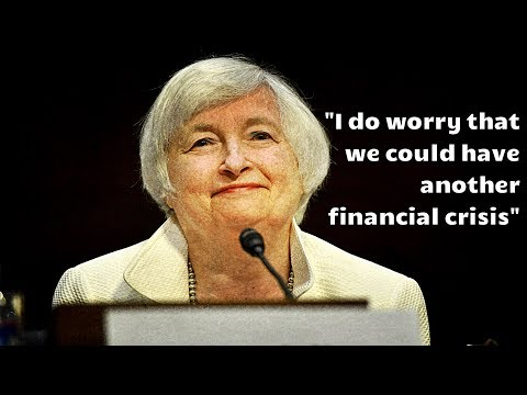 Yellen Admits She Is Worried About Another Financial Crisis