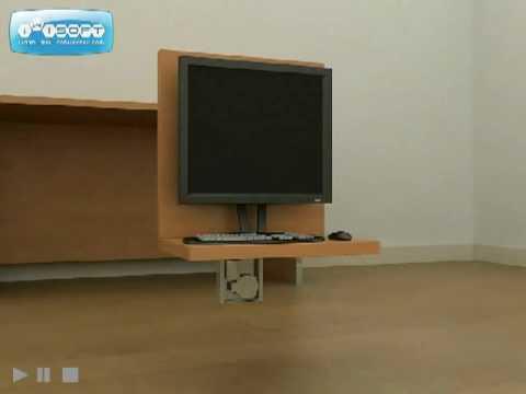 tv lift systeem st460 van screentech