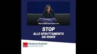 Intervento durante la Plenaria di Strasburgo della parlamentare europea Elisabetta Gualmini sulle Condizioni di lavoro eque, diritti e protezione sociale per i lavoratori delle piattaforme - Nuove forme di occupazione legate allo sviluppo digitale.